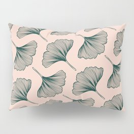 Diagonal Gingko Leaves Pillow Sham