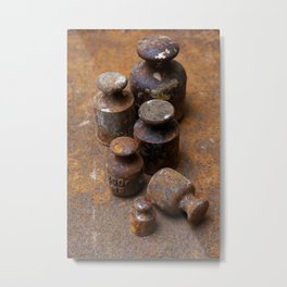 Old weights for scales Metal Print