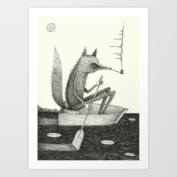 'Across The Lake' Art Print