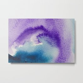 Paint-violet,blue,pink and white Metal Print