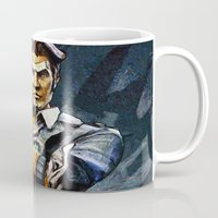 borderlands Mugs featuring Borderlands Handsome Jack by Joe Misrasi