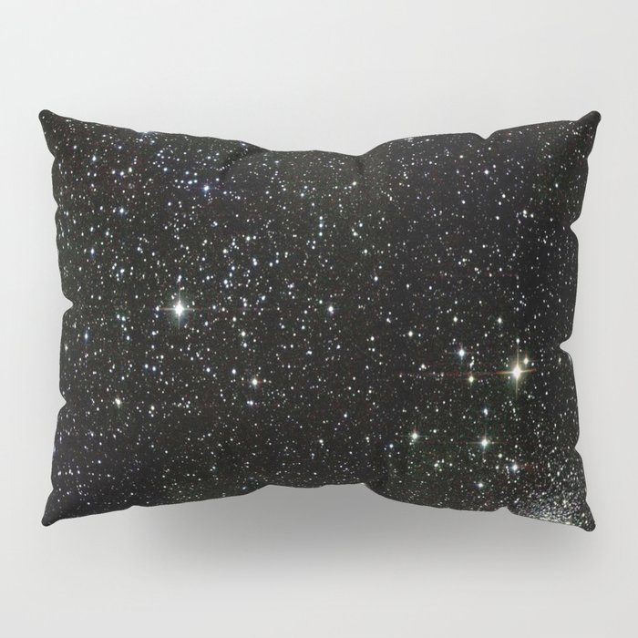 Universe Space Stars Planets Galaxy Black and White Pillow Sham