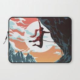 Rock Climbing Girl Vector Art Laptop Sleeve