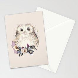 Boho Illustration- Be Wise Little Owl Stationery Cards