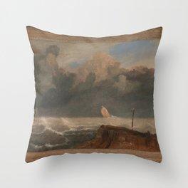 Joseph Mallord William Turner - Port Ruysdael Throw Pillow