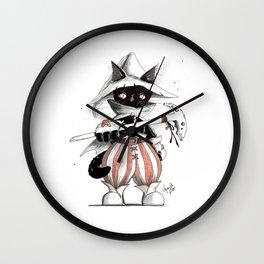 Black Mage Black Cat Wall Clock