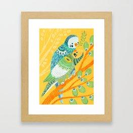 Parakeet Pals Framed Art Print