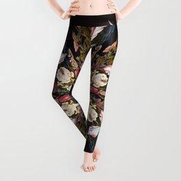 Flemish Floral Mandala Leggings