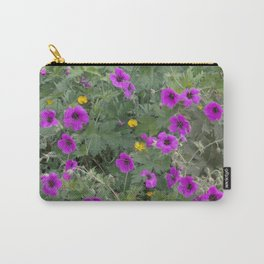 Wild Flowers in Purple and Yellow Carry-All Pouch