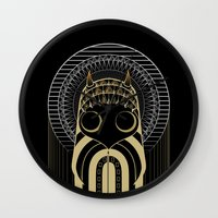 art deco Wall Clocks featuring Art Deco by Mrs.Kirki