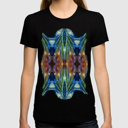 Feather Bloom Study Pattern T-shirt