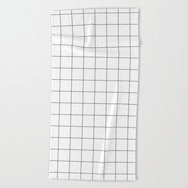 White Grid  /// www.pencilmeinstationery.com Beach Towel