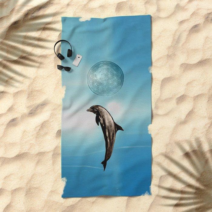 The DOLPHIN - ZEN version Beach Towel