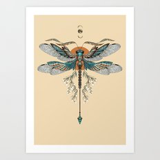 Dragonfly Tattoo Art Print