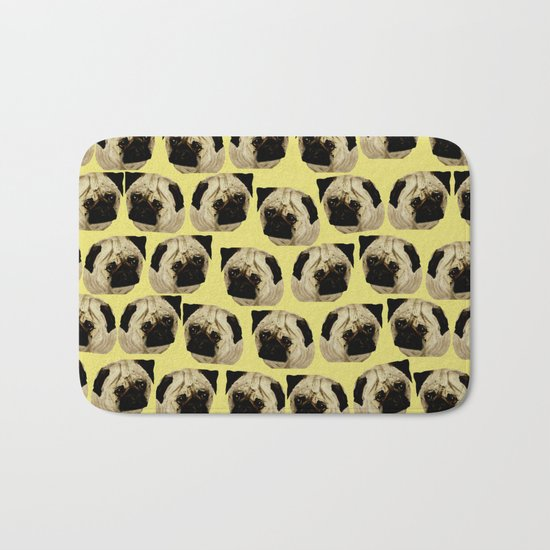 Pug Dogs Bath Mat