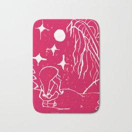 Winter Elf Cherry Pink Bath Mat
