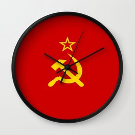 Flag of USSR Wall Clock