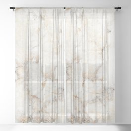 Marble Natural Stone Grey Veining Quartz Sheer Curtain