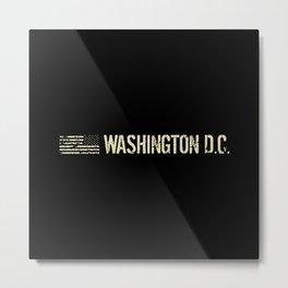 Washington D.C.: Black Flag Metal Print