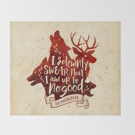 I solemnly swear Throw Blanket