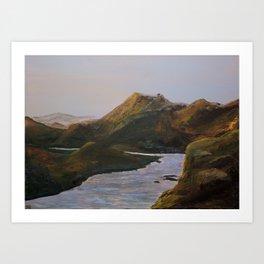 Lake Mountain Sunset - Acrylic Art Print