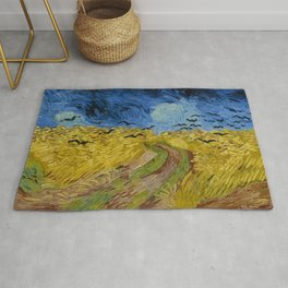 Wheat Field with Crows, Vincent Van Gogh Rug