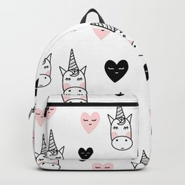 Unicorn pattern with hearts Backpack