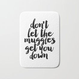 Don't Let The Muggles Get You Down,Yoda Quote,Star Wars Print,Star Wars Quote,Children Wall Decals Bath Mat