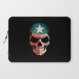 Dark Skull with Flag of Texas Laptop Sleeve