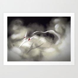 Cloud Gliding Art Print