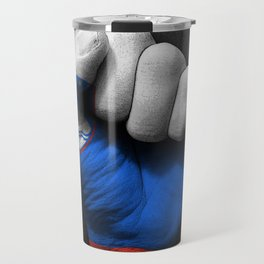 Slovenian Flag on a Raised Clenched Fist Travel Mug