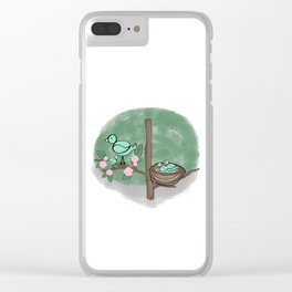 Baby Birds in a Tree Clear iPhone Case