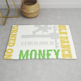 Support Your Pole Dance Electrical Lineman Electrrician Rug