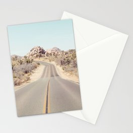 Joshua Tree Desert Road - Landscape Photography Stationery Cards