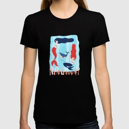 Marvelous Merry Majestic Mid Century Mermaids T-shirt