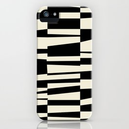 BW Oddities II - Black and White Mid Century Modern Geometric Abstract iPhone Case