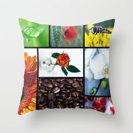 Natur im Herzen  Throw Pillow