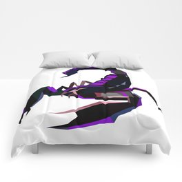 Scorpion geometric Animal  Zodiac sign Black and purple Comforters