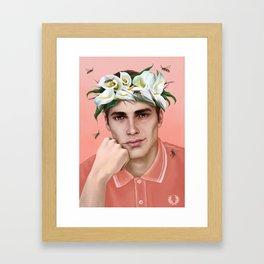 flower king Framed Art Print