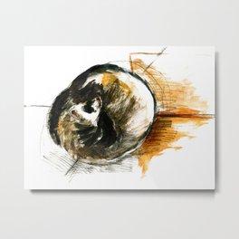 Little furet (Sleepy Ferret) Metal Print