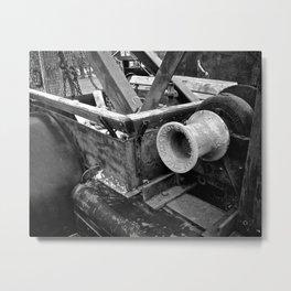 Black & White Winch Metal Print