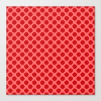 polka dot Canvas Prints featuring Polka dot by David Zydd