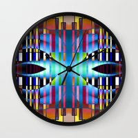 seattle Wall Clocks featuring Seattle by Kristine Rae Hanning