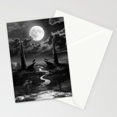 XVIII. The Moon Tarot Card Illustration Stationery Cards