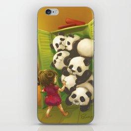 A cupboard of pandas iPhone Skin