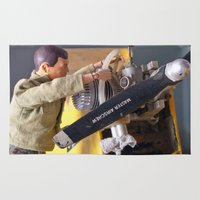 airplane Area & Throw Rugs featuring Airplane Mechanic by Frankie Cat