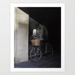 Bicycle Against Splattered Wall Art Print