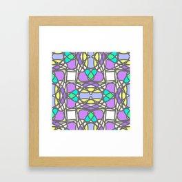 Colorful stylized mosaic seamless pattern Framed Art Print