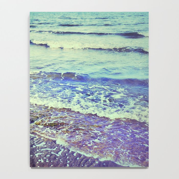 Retro beach. Summer Waves Notebook
