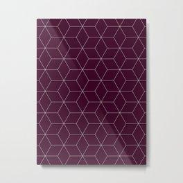 Hex Cabernet Metal Print